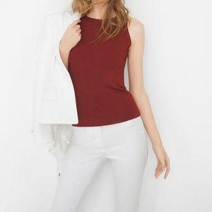WHBM dark red sleeveless sweater